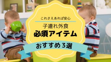 【育児2年目のママもおすすめ】子連れ外食おすすめアイテム3選